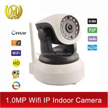 720P 2 Way Audio H.264 P2P Indoor WIFI IP Camera With Iphone App and Android Smartphone App 64G TF/Micro SD Memory Card Slot