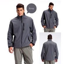 Mens Custom Windproof Outdoor Softshell Jacket