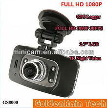 Ambarella GS8000 1080P Full HD Russia Car camera dvr With Motion Detection Night Vision 5M Camera 2.7 16:9 LCD GPS