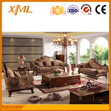 living room furniture antique sectional french style fabirc sofa