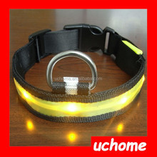 UCHOME Super Value High Quality Nylon Nylon LED Flashing Dog Collar With 3 Flashing Mode 7 colour