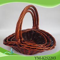 Big wicker bread basket & wedding gift honey color basket