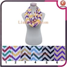 wholesale fashion women scarf chevron jersey zig zag infinity scarf air hostess scarf