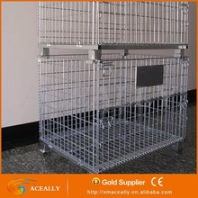 Steel Wire Mesh Pallet Cage for Warehouse Storage with Metal Pallet Cage