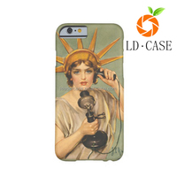 Newest popular vintage 3D printed sublimation cheap phone case for Christmas promotion