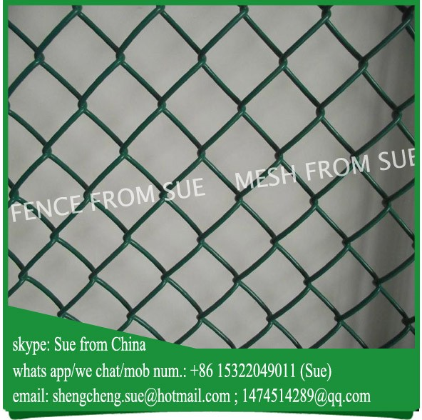 green galvanized chain link mesh