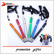 promotion lanyard touch screen pen for smartphone
