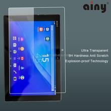 Anti glare Tempered Glass mobile Screen shield for sony Xperia z4 tablet