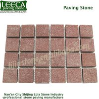Red porphyry paving stone | red porphyry stone driveway bricks for sale