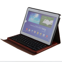 China Factory direct selling- Bluetooth Keyboard Leather Case For Samsung Galaxy Note 10.1 2014 Edition P600/P601