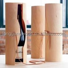 Single Bottle Birch Wood Wine Box