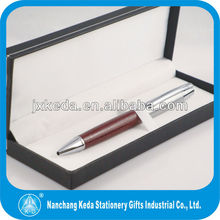 leather promotional metal ball pen