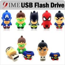 Hot Usb Pen Drive America Captain Superman Spiderman Batman Green Lantern Cartoon USB Flash Drive 4G 8gb 16g 32g Pendrive U Disk