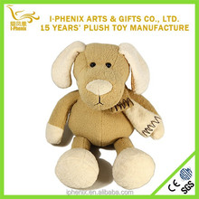 Soft plush toy stuffed animal funny plush dog with a scarf for home decoration