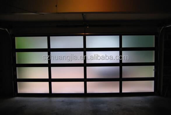 Black Anodized Aluminum Frame Automatic Frosted Tempered