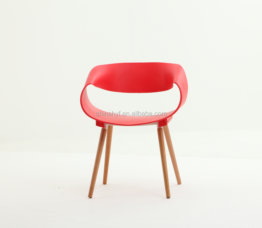 mary chair plastic chair with wooden legs
