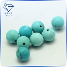 Hot sale high quality loose round natural turquoise beads
