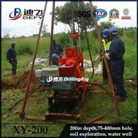 hot sale in Africa 200m deep home use water well portable drilling rig