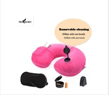 2015 travel pillow bundling eye mask and earplug best choice for travel use or home use 6 colors 1 set free shipping 13406