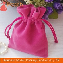 pink velvet gift pouch,velvet pouch for gift