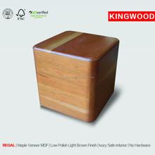 REGAL american ash wood urn resin pet urns