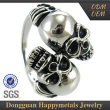 Affordable Price Best Design Biker Jewelry Ring With Sgs Certification