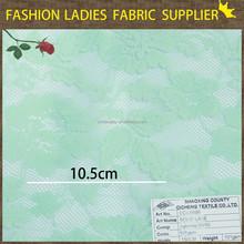 2014/2015 hot sale shaoxing textile nylon/sandex solid lace for dress wholesale lace fabric