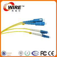 UL Passed Multi Mode DX OM3 Lc Sc Connector In Fiber Optic Cable