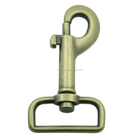 Manufacturers of dog hook in china metal zinc alloy 32mm brass dog collar swivel hook