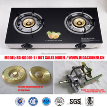 RD-GD001-1 2 burner Glass Top Table Gas Cooker/Gas stove/ Cooktop