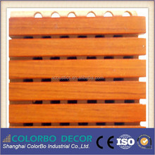 micro-perforated surface MDF wooden acoustic panel