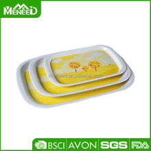 Creative promotion gift item trays, melamine non-slip airline service tray, custom printed plastic serving tray