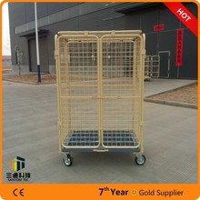 steel storage roll cage,warehouse roll container