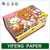 beautiful cartoon bear printed on the gift box for girl with many compartments packaging gift