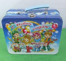 custom mini lunch metal tin box with lock and key