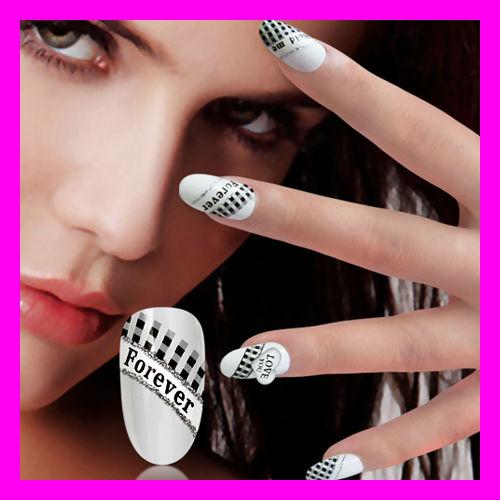 fashional decorated nail tips 24 pcs pack nail art