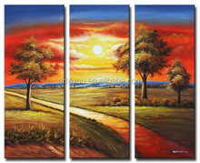 Beautiful garden scenery drawing on canvas oil painting