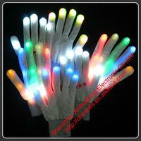 Custom Logo Magic LED Finger Light Gloves for Party Dancer