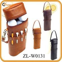 Leather Golf Ball Carrier bag
