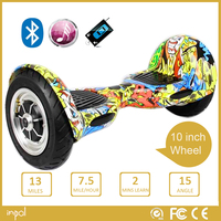 10 inch self balancing electric scooter bluetooth remote LED