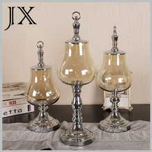 decorative modern gorgeous designs vases with metal base wholesale china