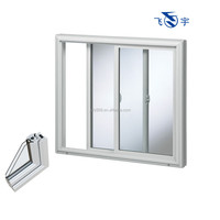 high quality pvc horizontal sliding window made in China