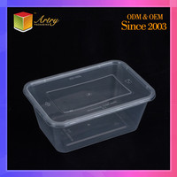 Stackable Disposable Clear Plastic Lunch Box For Salad