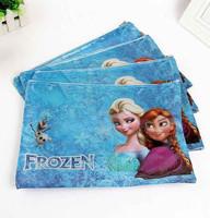 A4 Document Bag Stationery Pen Case Frozen Elsa Princess Cartoon Pack
