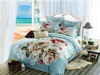 Wholesale 4pcs luxury design 3d bed sheet king size 3d bedding sets for wedding