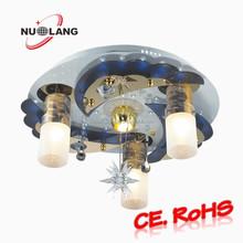 round golden stainless steel indoor night club ceiling light