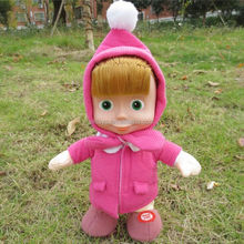 High quality electric dacing and talking girl plush toy
