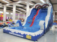 2015 summer exciting water sports inflatable slip slide