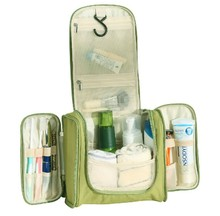 Hanging Cosmetic Organizer and Grooming Travel Bag Green