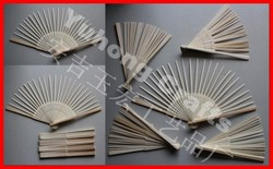 Nature hand folding bamboo frame ribs